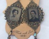 Tintype Photo  Earrings No.4