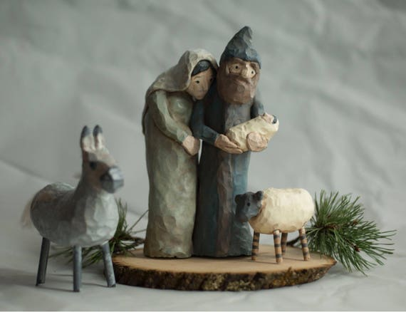 Nativity folk art by Trieste Prusso Design