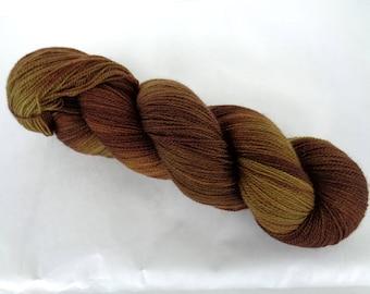 VERY MUDDY MEADOW, merino lace yarn, lace yarn, merino yarn, hand painted merino yarn, hand dyed yarn, superwash lace yarn, 3.5oz, 700yds