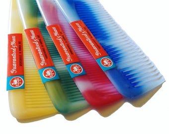 SALE 1960s MOD SWIRLED Comb Vintage Plastic Large Size