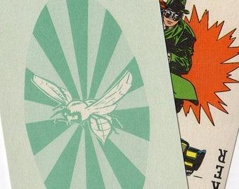SALE 5pcs 1966 GREEN HORNET Cards Vintage Ephemera Hilarious Photos