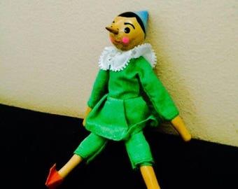 SALE 6pcs VINTAGE PINOCCHIO Doll Shackman Handmade Hardwood