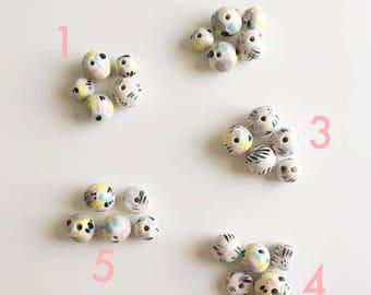 Aunt May's 1980's Wallpaper Ceramic Beads