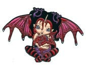 Ruby Dragonling Collectible Enamel Pin by Jasmine Becket-Griffith Art lapel pin button baby red dragon