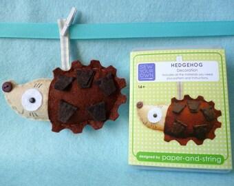 Hedgehog Mini Kit - Felt sewing kit