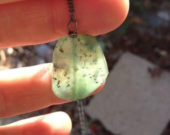 Chrsysoprase necklace