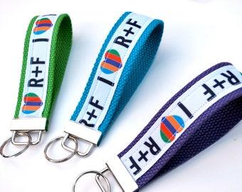 R+F Rodan and Fields Key Fob Keychain Wristlet | Medium and Large Sizes