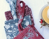 organic grocery bag hand printed fabrics