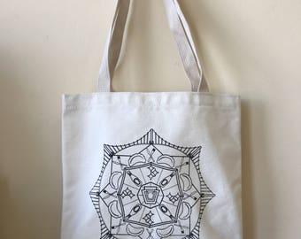 Pittsburgh Mandala Tote Bag (small)