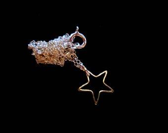 Teensy Tiny Silver Star Necklace