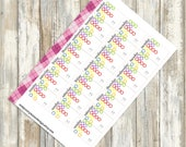 21 Day Fix Tracking Sidebar Stickers for Erin Condren (ID197)