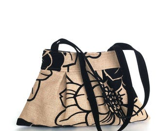 Floral  purse ,Handmade handbag ,Fabric purse, Vegan women soulder bag ,Wife gift, shoulder purse ,  birthday gift for her , office fashion