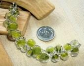 UNICORNE  Beads - 23 TEARDROP 8mm x 6mm Borosilicate Beads in Light AVOCADO Green