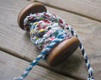 RAG ROPE   recycled handmade fabric colorful CoRD