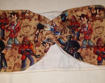Pulp Fiction Custom Print Cotton/Lycra Stretch Knit Scrunchy Wide Headband