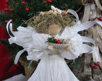 Coastal Christmas Angel Tree Topper
