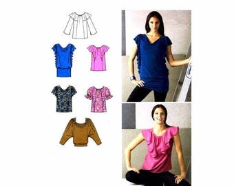 SALE Misses Knit and Woven Tops Simplicity 2554 Sewing Pattern Full Figure Size 14 - 16 - 18 - 20 - 22 Bust 36 - 38 - 40 - 42 - 44 Uncut