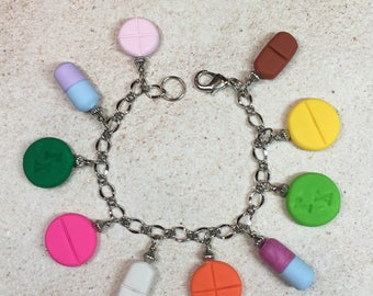Pill Themed Charm Bracelet from My Bead Garden