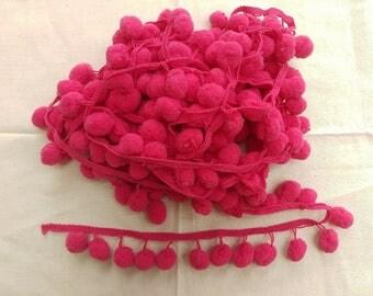 Pink Pom Pom Trim