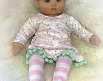 "Doll clothes for a 15"" baby doll 3 pc"