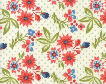 Biscuits and Gravy - Grow Daisies in Creamy White: sku 30481-12 cotton quilting fabric by BasicGrey for Moda Fabrics