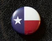 "1"" Texas flag button, state, pin, badge, pinback"