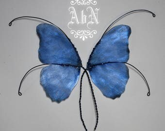 Fairy Wings - Blue Butterfly wings BL1 -  For OOAK Art Dolls