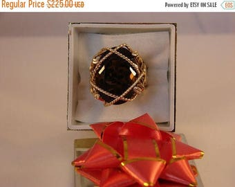 Moving Sale 40% Off Oval Shaped Smokey Quartz 15 plus cts. Ring Size 6