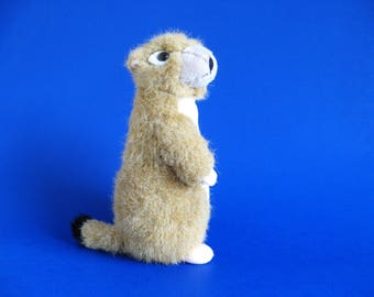 Vintage Prairie Dog with a Swivel Head Stuffed Animal by K & M International 1990s Toy Plush