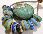 Handmade Lampwork Beads NATURALS Two Sisters Designs 041017A