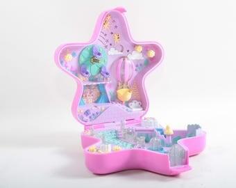Polly Pocket, Fairylight Wonderland, Dark Pink, Star, Case, Compact, Bluebird, Plastic, Vintage, Toy, Wheel, Balloon ~ The Pink Room ~ SS009