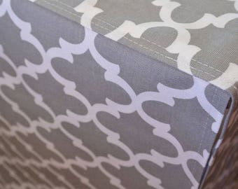Designer Dog Crate Cover, Grey Moroccan Cover, YOU Choose Fabric, MANY Fabric Collections, Crate Cover, Pet Crate Cover, Kennel Cover