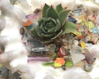 Tumbled Art Glass Sea Glass Gravel