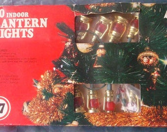 Red Lantern Railroad RR Christmas Tree Lights