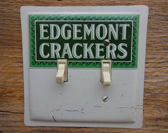 Light Switch Cover Plate Switchplates Antique Edgemont Crackers Tin 1924  Tins For Unique Kitchen Lighting SP
