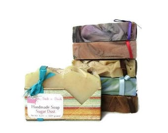Soap Deal - Discounted Homemade Soap Variety Pack - Six Pack - Cold Process Bar Soap - Birthday Gift - Stocking Stuffers - Soap of the Month