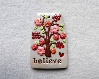 Happiness Tree/Healing Tree Pendant - Believe