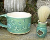 Shaving Kit in Garden Colors with Fish Stamps