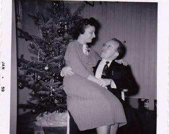 Let's Play Santa... - Found Photograph, Original Vintage Photo, Photograph, Old photo, Funny photo, Snapshot, Photography, Vernacular