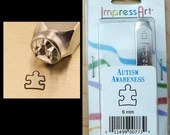6mm Metal Stamp Tool- Football Helmet Skull and Bone Medical Sign Autism Awareness Symbol