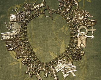 Lenomand Card Deck Charm Bracelet - Pagan, Divination, Wicca, Witchcraft,