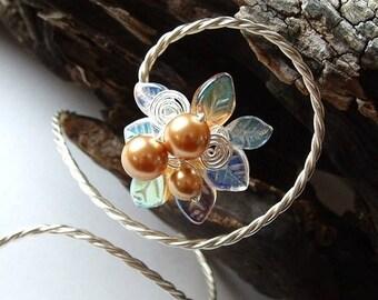 ON SALE Fairy Lights Art Nouveau Arm Band Bracelet, Bridal Body Jewelry