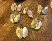 hand painted Earrings, one of a kind,unique, a beautiful statement piece.