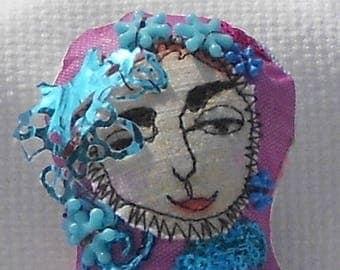 art cloth doll pincushion