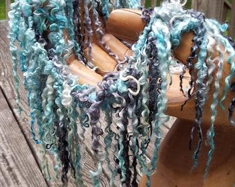 Handspun Art Yarn-Lava Flow- Iceland Collection; JazzTurtle SIgnature Tailspun Yarn