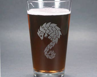 Pangolin Pint Glass