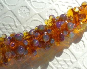 Lampwork beads/SRA lampwork/beads/glass beads/ opals/ bubbles/ amber/