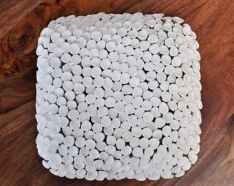 SALE - Fungi - Large Porcelain Wall Tile - Ceramic Wall Art Textured Wall Art