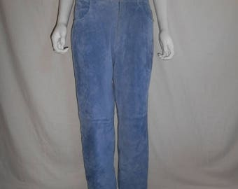 Closing Shop 40%off SALE Suede Leather Pants size 10, Womens suede leather pants