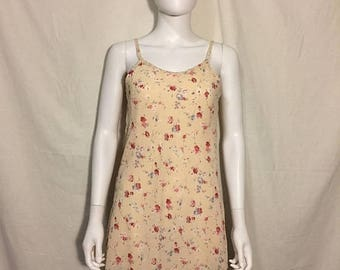 Closing Shop 40%off SALE 90s grunge  short floral dress